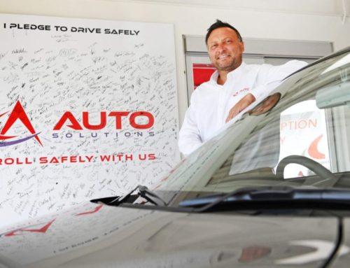 Car dealer promotes road safety