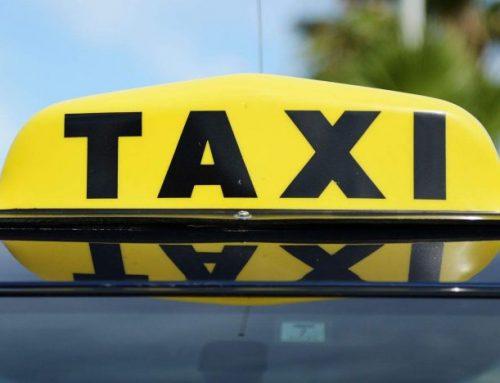 Taxi driver hits wall
