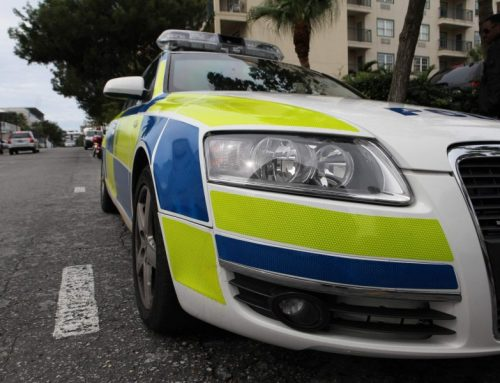 Crash injury policeman 'stable'