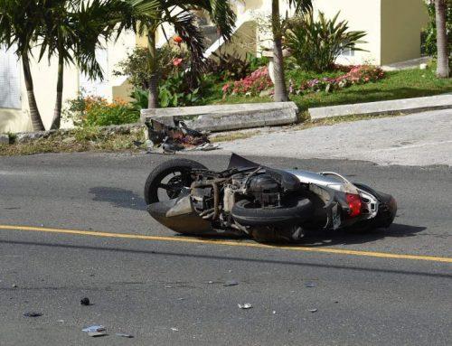 Biker recovering after crash